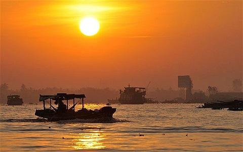 カンボジア・メコン川